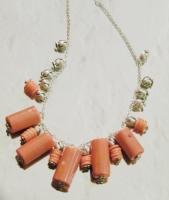 Collana Corallo Rosa bambù