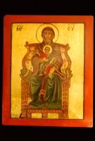 Madre di Dio in trono 27x22