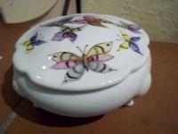 Scatola in porcellana Farfalle