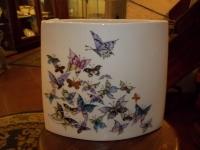 Vaso ovale Farfalle